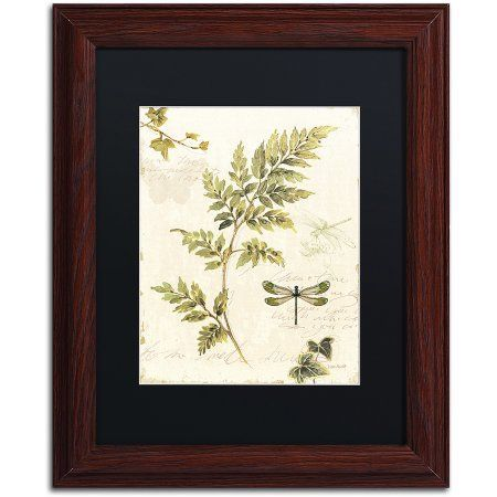 trademark fine art ivies and ferns iii canvas art by lisa audit black matte - Wood Frames For Canvas Paintings