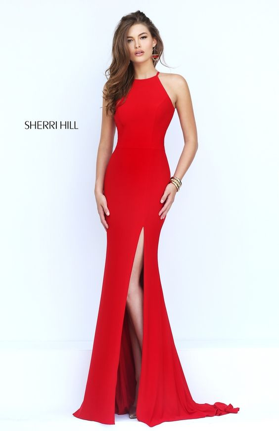 Charming Evening Dress with Train Prom Dress sherri hill 32340