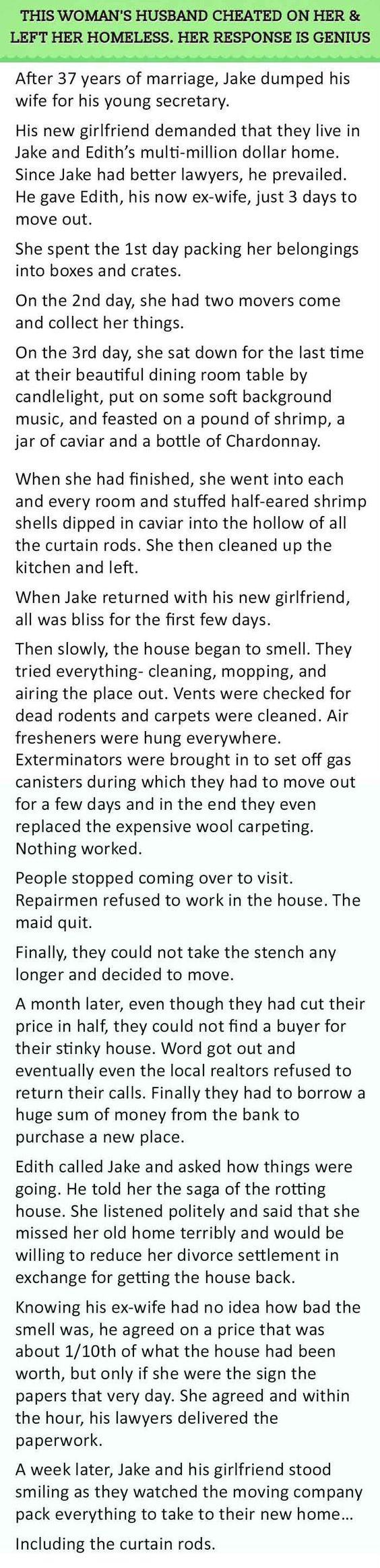 Wife revenge husband