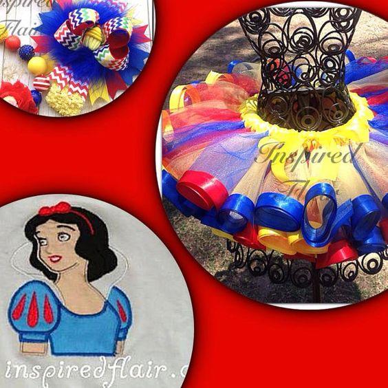 Custom Snow White Satin Ribbon Edged Tutu Skirt- Snow White Tutu