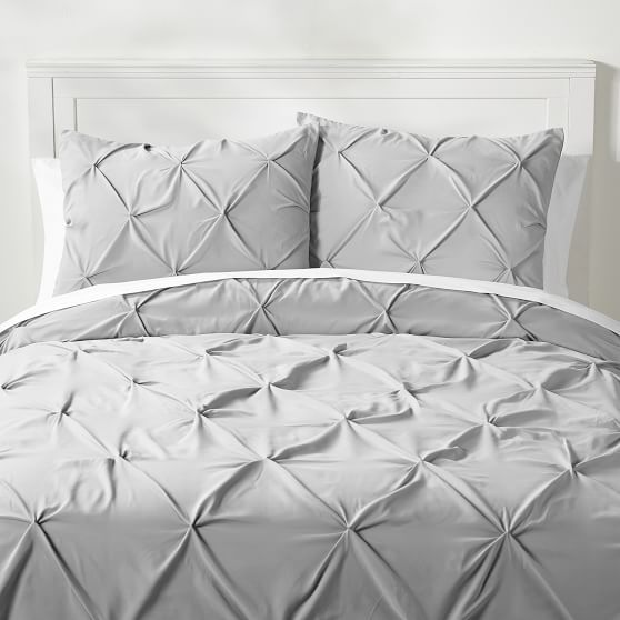 Microfiber Pintuck Duvet Cover Sham In 2020 Bed Linens Luxury Pintuck Duvet Cover Gray Duvet Cover