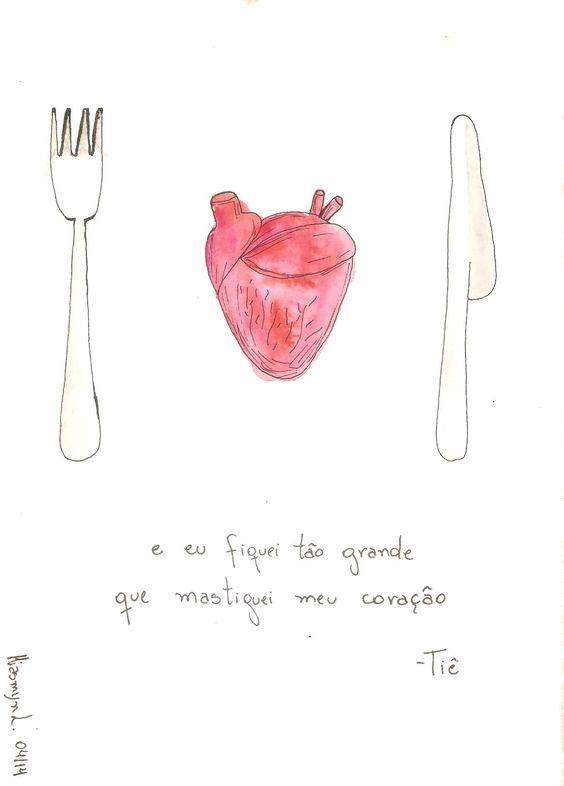 coração - Tiê  #watercolor #draw