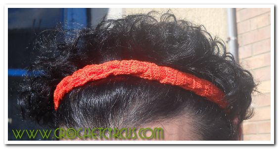 Croche twisted headband - with video tutorial