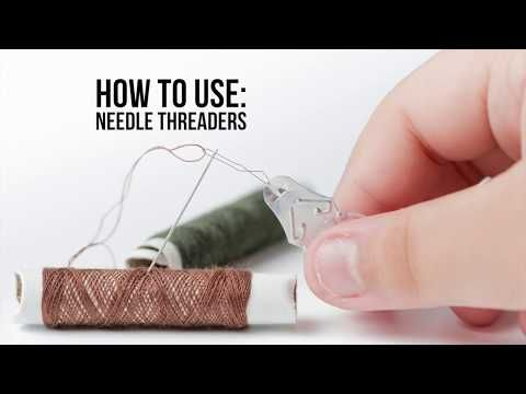 How To Use A Needle Threader Allfreesewing Com Needle Threaders Threader Needle