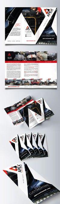 Apex Custom auto promotional brochure by Wilson López Ajtun