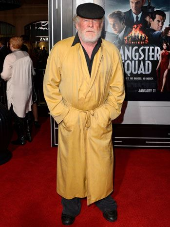 Gangster Squad - Nick Nolte! Well, he certainly knows how to makes an entrance. #fashion #awesome    DidNick Nolteset his alarm?
