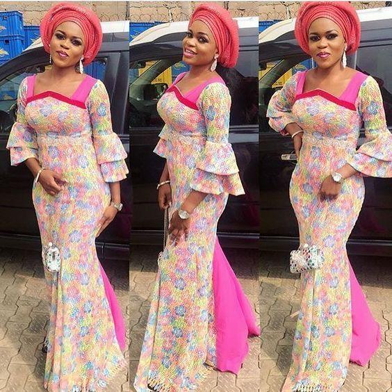 Latest Ankara Aso Ebi Styles 2019 Check Out 100 Classy And Stylish Aso Ebi Ankara Styles For Wedd African Wedding Attire African Fashion Dresses African Attire