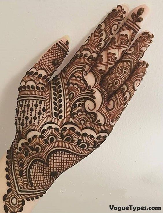 Front Hand Unique Mehndi Designs