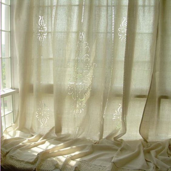 Cotton curtains, Lace curtains and Crochet lace on Pinterest