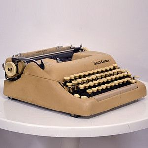 Love these vintage typewriters. Wouldn't it be great to sit at your coffee shop and clack away amidst the iPad and MacBook users?  Ha!