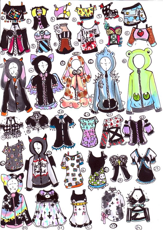 Cartoon Characters You Can Dress Up As : Closed adopts by guppie on deviantart clothes