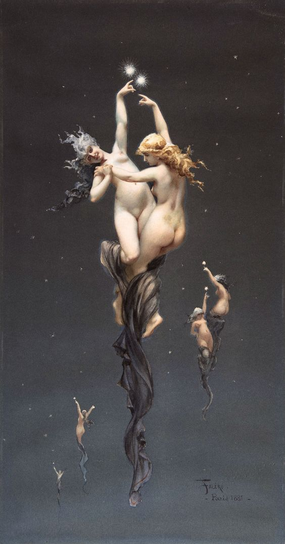 Las estrellas gemelas, (c. 1881). Luis Ricardo Falero