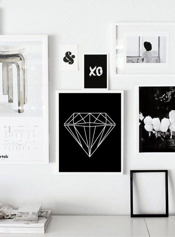 "Diamond Scandinavian Printable Poster - Geometric Print - Nursery Print - Affiche Scandinave - Home Decor 50x70cm,24x36"",11x14"",8x10"",12x12"""