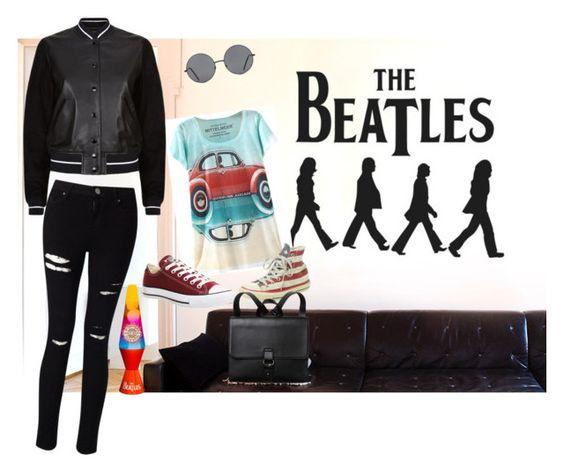 """Beatlemania"" by lmlarianhell on Polyvore featuring moda, rag & bone, Lava, Miss Selfridge, Converse, Forever 21 y Monki"