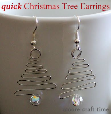 So simple to make these handmade Christmas tree earrings are so cute - make them in minutes!
