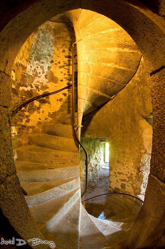 Staircase inside Blarney castle.
