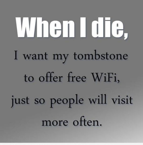 free WiFi at tombstone