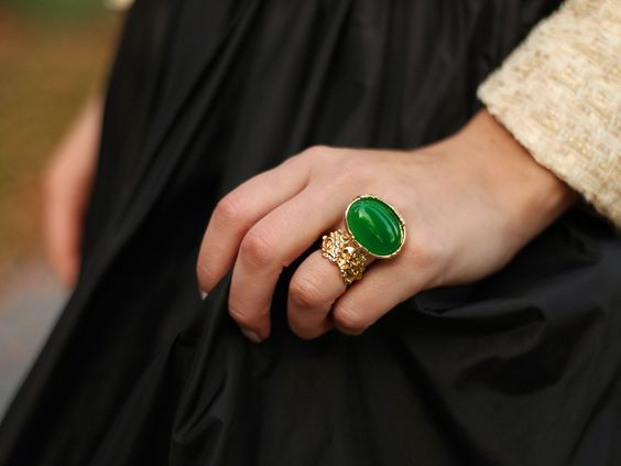 National Jewel Day- Emerald Amor ring from Sole Society