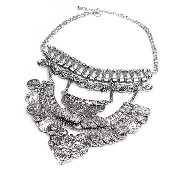 Find More Choker Necklaces Information about Silver plated With Coin Tassel Statement Necklace Big Pendant Choker Maxi Necklace Jewelry  Femme Collier Bijoux,High Quality jewelry belly button rings,China plated silver Suppliers, Cheap plated rose from Manerson Jewelry  on Aliexpress.com