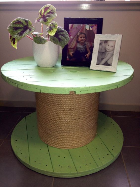 Upcycled Wooden Cable Spool www.facebook.com/onechiclane