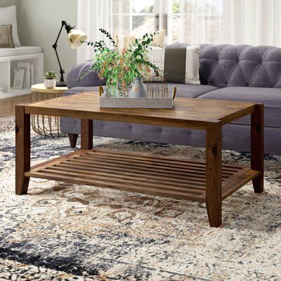 24+ Laurel foundry modern farmhouse athena solid wood coffee table with storage inspiration