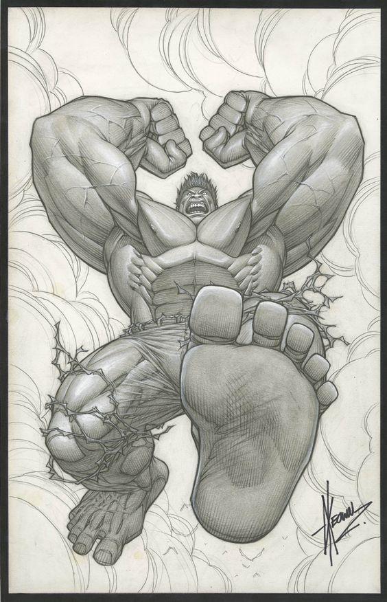INCREDIBLE HULK #1 VARIANT COVER ( 2011, DALE KEOWN ) Comic Art
