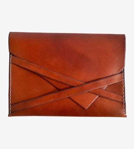 Leather Envelope Clutch /