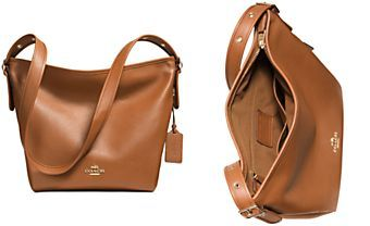 COACH DUFFLETTE IN POLISHED PEBBLE LEATHER