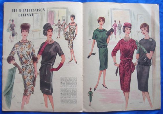 vintage European sewing pattern fashion clothes outfits magazine ...