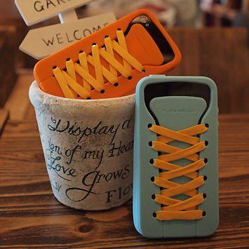"""ishoes 4S case (in 6 colors) - """"how to tie a knot"""" app available"""