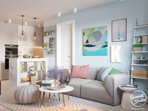 Casinha colorida: Um flat confortável e charmoso