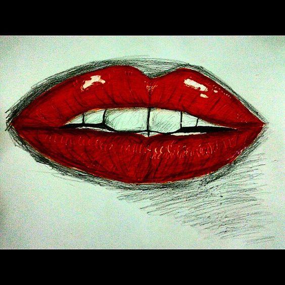 Practica dibujo labios primer intento