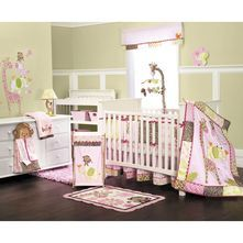Jungle Jill Nursery Collection from Carters - Perfect for a little girl <3 this is the one had picked out for Kadence's nursery!
