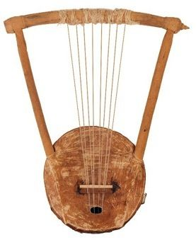 Harps, developed from the hunting bow and used since the Old Kingdom, were triangle or arc shaped. They usually had eight to twelve strings and both men and women played them sitting, standing or kneeling. They were generally made of wood and probably did not project very far. Harps were often decorated and could be expensive works of art
