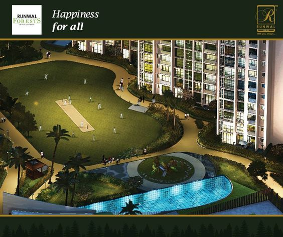 Runwal Forests - 2 BHK Flats In Kanjurmarg Mumbai. A complete residential project is the one which caters to all the age groups. The diverse amenities of Runwal Forests have provisions for Children's  Play area and Senior Citizens Corner which bring happiness to kids and adults alike.