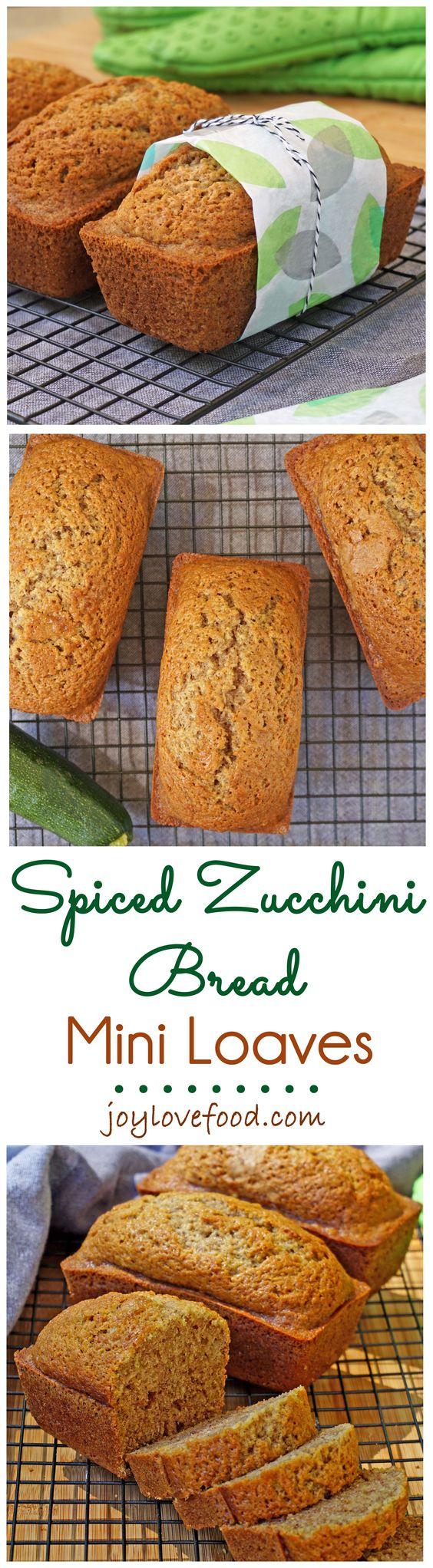 Spiced Zucchini Bread Mini Loaves | Recipe | Zucchini, Breads and ...