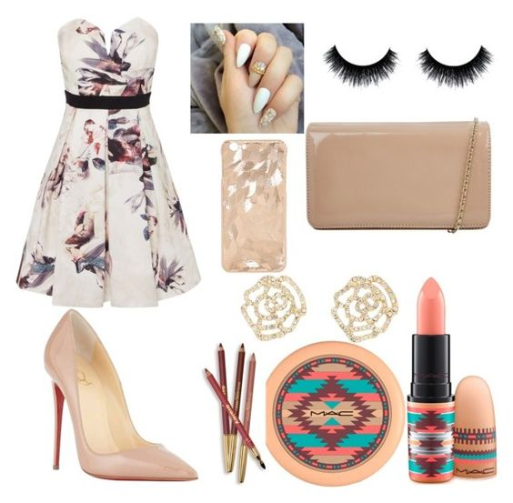 """""""nude and flowers """" by leleqveen1 ❤ liked on Polyvore featuring Little Mistress, MAC Cosmetics, Sisley Paris, Hobbs, Charlotte Russe and Christian Louboutin"""
