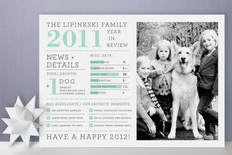 Family Year in Review Christmas Photo Cards