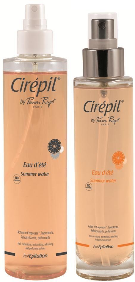 Cirépil by Perron Rigot Summer Water contains soothing and moisturising Aloe Vera and Capislow®, an active ingredient that reduces hair re-growth, making this 4-in-1 skincare water with a citrus fragrance an essential step in your daily body care routine.