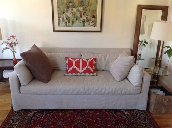 Restoration Hardware Belgian slope arm 7 ft sofa in Williamsburg, Brooklyn, NY, USA ~ Krrb