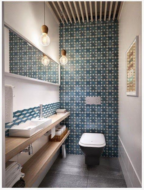 Banheiros Detalhes simples que fazem a diferença gastando pouco!  Pó, Layou -> Decoracao De Banheiro Com Ceramica Na Parede
