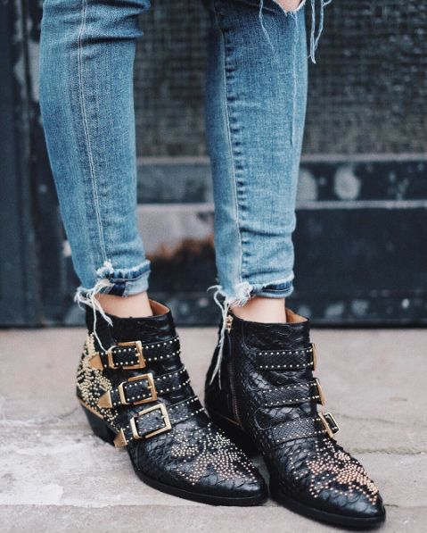 Chloé Studded Susana Boots
