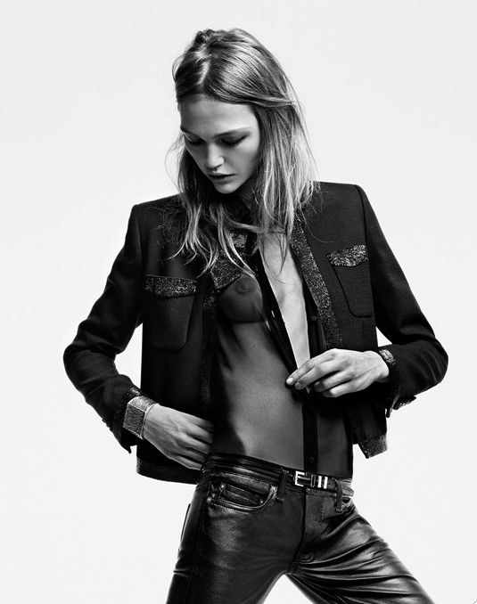 Sasha Pivovarova by Hedi Slimane for Saint Laurent spring/summer 2014 _