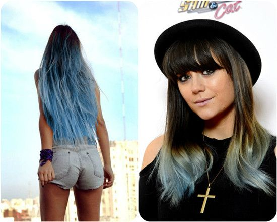 2014 Winter 2015 Hairstyles And Hair Color Trends Blue Colors Colors And