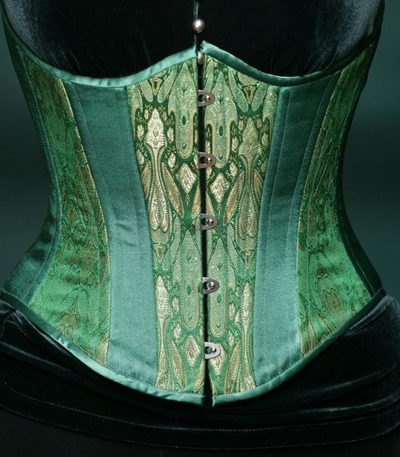 Absinthe Fairy Silk Underbust Corset - Ladies Clothing - Steampunk Sweetheart