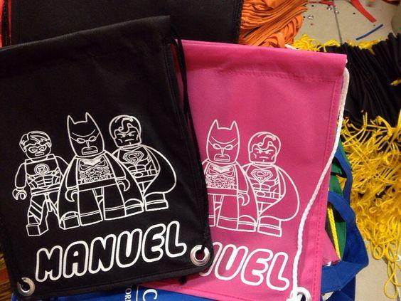 Bolsa para bolo piñata superheroes