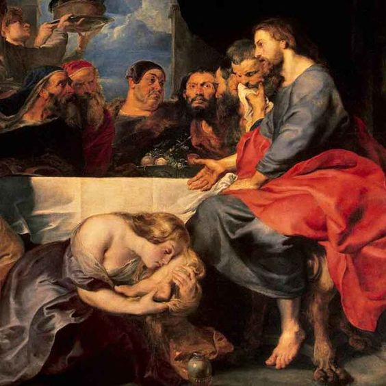 Image result for Mary Anointing Jesus' Feet, by Peter Paul Rubens