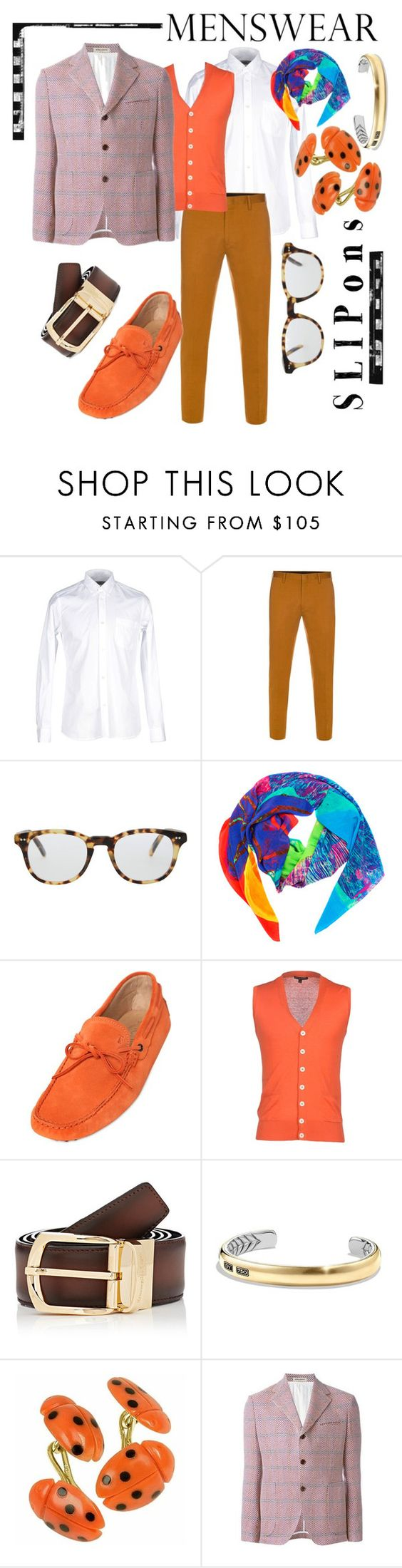 """Colorful slip ons"" by capricat ❤ liked on Polyvore featuring M.GRIFONI DENIM, Paul Smith, Cutler and Gross, Tod's, Brian Dales, Ermenegildo Zegna, David Yurman, Forzieri Exclusives, men's fashion and menswear"