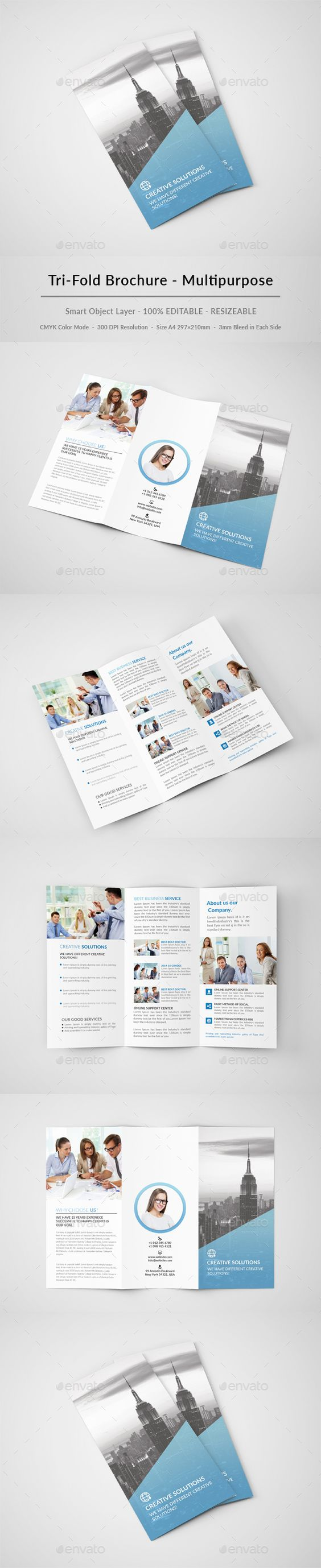 Creative Trifold Brochure Template PSD #design Download: http://graphicriver.net/item/creative-trifold-brochure/13289261?ref=ksioks