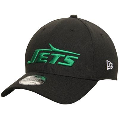 Men's New York Jets New Era Black Throwback Coaches Stretch ...